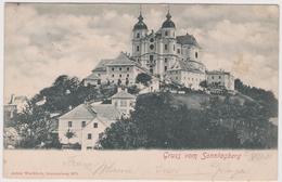 OSTERREICH-AUSTRIA  Gruss Vom SONNTAGBERG  Alte AnsichtsKarte  1901 - Sonntaggsberg