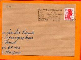 LOT ET GARONNE, Agen, Flamme SCOTEM N° 9540, Lacepede Et La Légion D'Honneur 8 Oct. - 8 Dec. 1988 - Oblitérations Mécaniques (flammes)