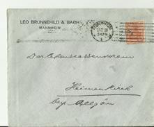 DE CV 1920 MANNHEIM - Cartas