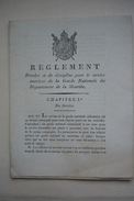 NAPOLEON CENTS JOURS  Réglement De La GARDE NATIONALE Département De La MEURTHE Signé Baron DU MOLART 1815 Militaria - Historical Documents
