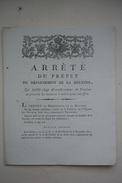 PREFET DE LOUIS XVIII Restauration  Mesures à Suivre Pour La Vaccination Contre La Petite Vérole 1814 - Historical Documents