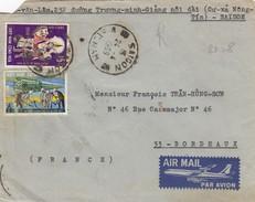 LETTRE VIET-NAM. PAR AVION.  24 4 1969.  SAIGON POUR BORDEAUX - Vietnam