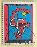 TIMBRES - STAMPS - ANGOLA - 1977 - LE CONGRÈS DU MPLA. - TIMBRE OBLITÉRÉ