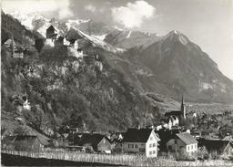 Y3120 Liechtenstein - Schloss Vaduz - Rappenstein Und Falknis / Viaggiata 1961 - Liechtenstein