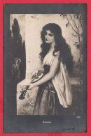 219419 / MIGNON OPERA Comique Star SINGER MUSIC Mandolin LONG HAIR - Gypsy Woman Femme Frau 170 Bulgaria Bulgarie - Peintures & Tableaux