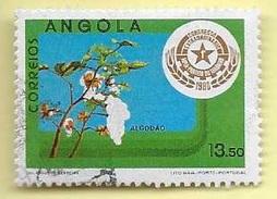 TIMBRES - STAMPS - ANGOLA - 1980 - COTON - M. P. L. A. - TIMBRE OBLITÉRÉ