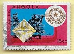 TIMBRES - STAMPS - ANGOLA - 1980 - DIAMANTS - M. P. L. A. - TIMBRE OBLITÉRÉ CLÔTURE DE SERIE