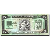 Liberia, 5 Dollars, 1991, 1991-04-06, KM:20, NEUF - Liberia