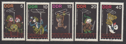 DDR / Tag Des Kindes: Figuren Aus Kindersendungen Des Deutschen Fernsehfundfunks / MiNr. 1025-1029 - DDR