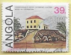 TIMBRES - STAMPS - ANGOLA - 1984 - CONSERVATION DU PATRIMOINE CULTUREL - TIMBRE OBLITÉRÉ