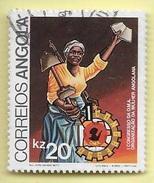 TIMBRES - STAMPS - ANGOLA - 1983 - 1er CONGRÈS DE ORGANIZATION DE FEMME ANGOLANE - TIMBRE OBLITÉRÉ