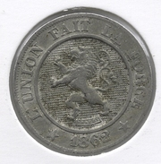 LEOPOLD I * 10 Centiem 1862 * Z.Fraai * Nr 7215 - 1831-1865: Léopold I