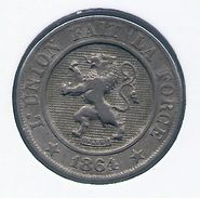 LEOPOLD I * 10 Centiem 1864 * Z.Fraai / Prachtig * Nr 7144 - 1831-1865: Léopold I