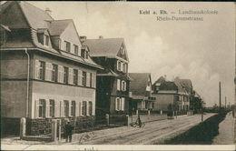 AK Kehl, Landhauskolonie, Rhein-Dammstrasse, O 1922, Große Vertikale Knicke, Eckknick (19966) - Kehl