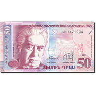 Armenia, 50 Dram, 1998-1999, 1998, KM:41, NEUF - Arménie