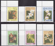 Laos 1997 Yvert 1269-74, Flora, Orchids - Mi 1577-1582 MNH**