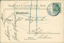 Rielasingen-Worblingen OT Arlen, Postkarte Mit Werbeeindruck Vom Spar- Und Consum-Verein, O 1914, Eckknick O.l. (19983) - Germania