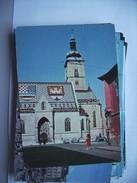 Kroatië Croatia Zagreb Zagreba Church And Cars - Kroatië