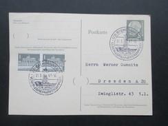 BRD 1961 Ganzsache P30 Mit Zusatzfrankatur Berlin. Sonderstempel Bremerhaven  75 Jahre Verein D. Briefmarkensammler - Postales - Usados
