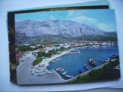 Kroatië Croatia Makarska The Harbour Panorama - Kroatië