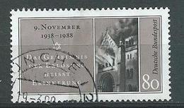 """BRD  1988  Mi 1389  50. Jahrestag Der"""" Reichskristallnacht"""""""