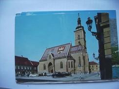 Kroatië Croatia Zagreb Zagreba Church Of St Marc Cars - Kroatië