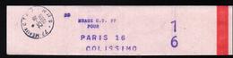 Collier à Sac De Meaux C.T.77  Pour Paris RP 16 Colissimo - Documents De La Poste