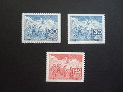 SUEDE, SCHWEDEN. ZWEDEN  1957    MI 421A+421Dr+422A ; YVERT 414/15 + 414a. MNH**. (E4306-025)