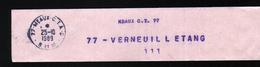 Collier à Sac De Meaux C.T.77  Pour 77- Verneuil L'Etang 111 - Documents De La Poste