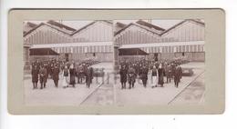 (n822) Photo Stéréo  71 LE CREUSOT Visite SAJ MGR Le Prince Impérial TASAI Chine Mission Chinoise 1906 Usines SCHNEIDER - Photos Stéréoscopiques
