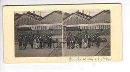 (n823) Photo Stéréo  71 LE CREUSOT Visite SAJ MGR Le Prince Impérial TASAI Chine Mission Chinoise 1906 Usines SCHNEIDER - Photos Stéréoscopiques