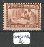 CON(COL.BEL.) COB 157 X - Belgisch-Kongo