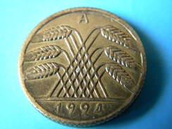 ALLEMAGNE - 10 RENTENPFENNIG 1924.A. - [ 3] 1918-1933 : Weimar Republic