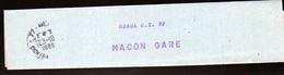 Collier à Sac De Meaux C.T.77- Pour Macon Gare - Documents De La Poste
