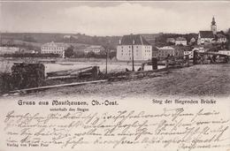 Gruss Aus Mauthausen An Der Donau, Unterhalb Des Steges,  Steg Der Fliegenden Brücke - Österreich