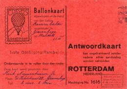 1946 Ballonkaart 1e Opstijging RAMBALDO Van 'sGravenhage