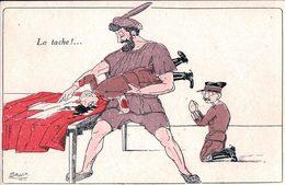 Illustrateur Salvis, Politique Suisse, La Tache, Carte Satirique, Litho (1631) - Satiriques