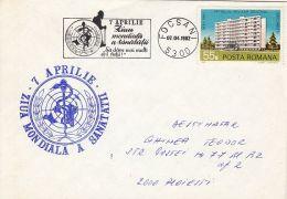 60573- WORLD HEALTH DAY, SPECIAL COVER, 1982, ROMANIA