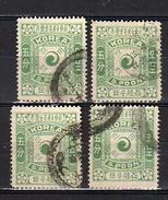 5 Poon X 4 All Very Fine  (k111) - Korea (...-1945)