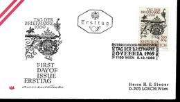 AUTRICHE  FDC 1969 OIT  Enseigne Poste De Salzbourg - Post