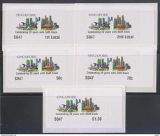 Singapore 2017 SKYLINE Design Commemorative Overprint ATM  Frama Labels Mint - 5 Values
