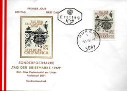 AUTRICHE  FDC 1969  Enseigne Poste De Salzbourg - Post