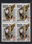 Rwanda 1988, 4-block, Red Cross, Medic, Minr 1406, Vfu. Cv 12 Euro
