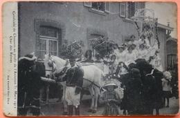 CARTE CAVALCADE CHAUSSIN AU PROFIT DE L' AVIATION 1912 - 39 - CHAR DES REINES - HORIZONTALE - SCAN RECTO/VERSO -9 - Francia