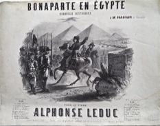 Alphonse Leduc, Bonaparte En Egypte, Quadrille Historique, Vers 1850 - Noten & Partituren