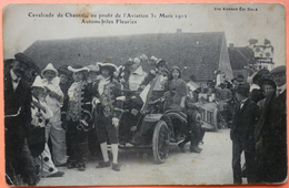 CARTE CAVALCADE CHAUSSIN AU PROFIT DE L' AVIATION 1912 - 39 - AUTOMOBILES FLEURIES - SCAN RECTO/VERSO -9 - Francia