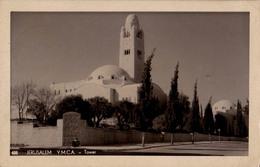 ISRAEL / PALESTINE : JERUSALEM : Y.M.C.A. - TOWER - CARTE VRAIE PHOTO / REAL PHOTO POSTCARD - MAILED In 1949 (w-191)