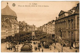 Liège Place Du Marché, Hötel De Ville Et Bourse (pk35156) - Liege