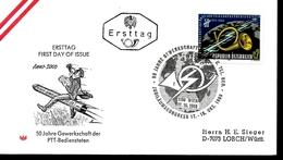 AUTRICHE  FDC 1969  Syndicats De La Poste Cor - Post