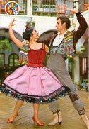 B 694 -  Cartolina Ricamata Danza Spagnola - Ricamate